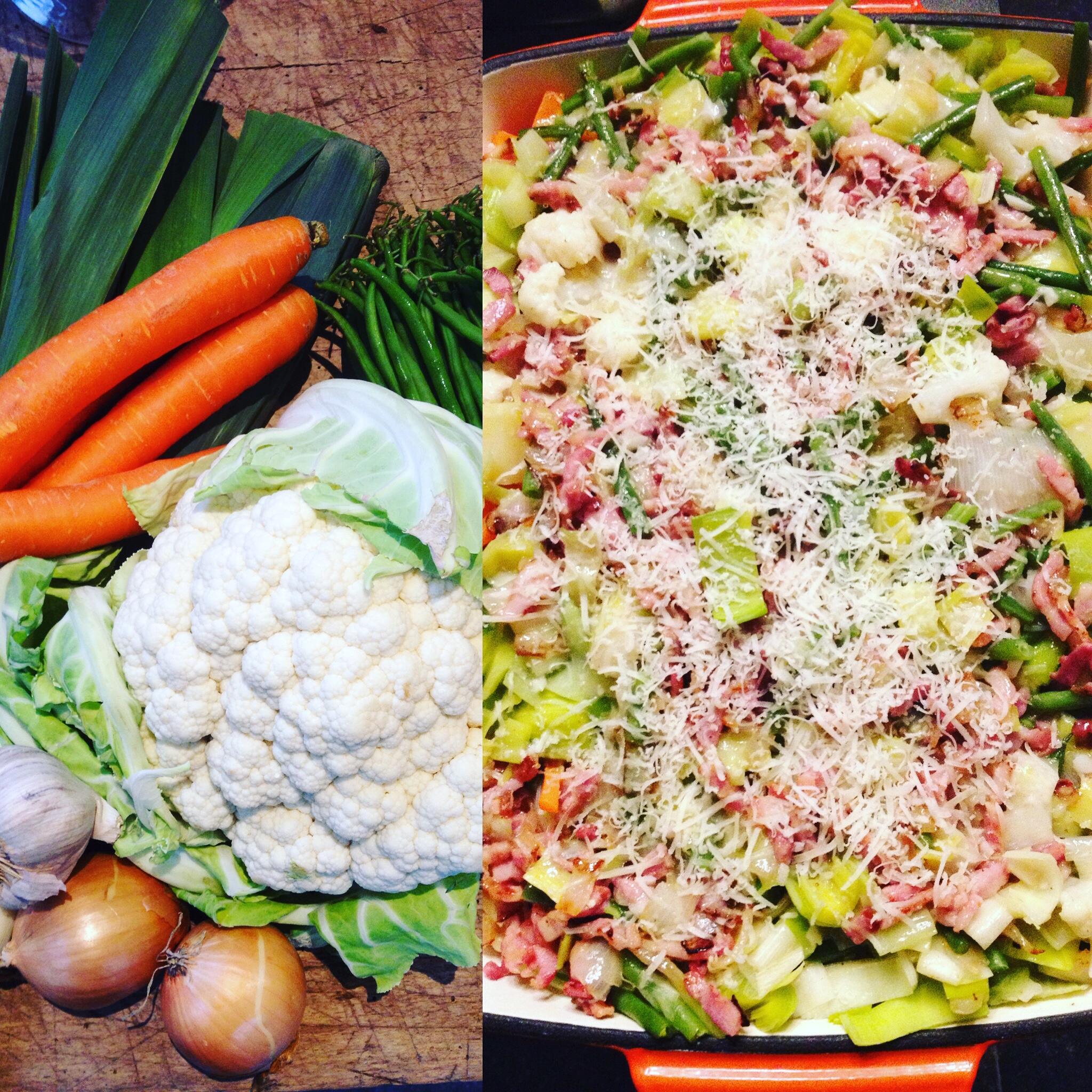 Na de overvloedige maaltijden is het nu tijd voor: lekker veel groentjes!