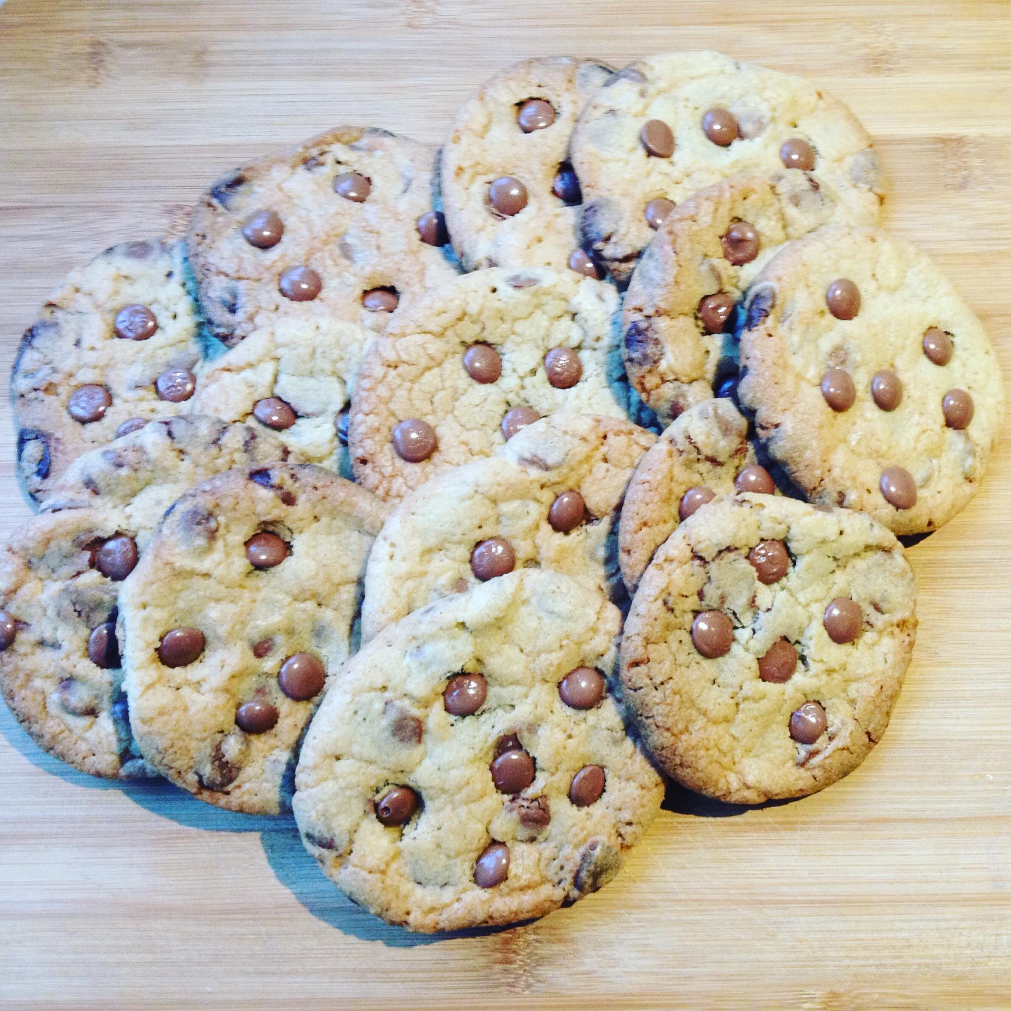 Niets lekkerder dan zelfgebakken koekjes. Vooral de chocolate chip koekjes zijn onweerstaanbaar.