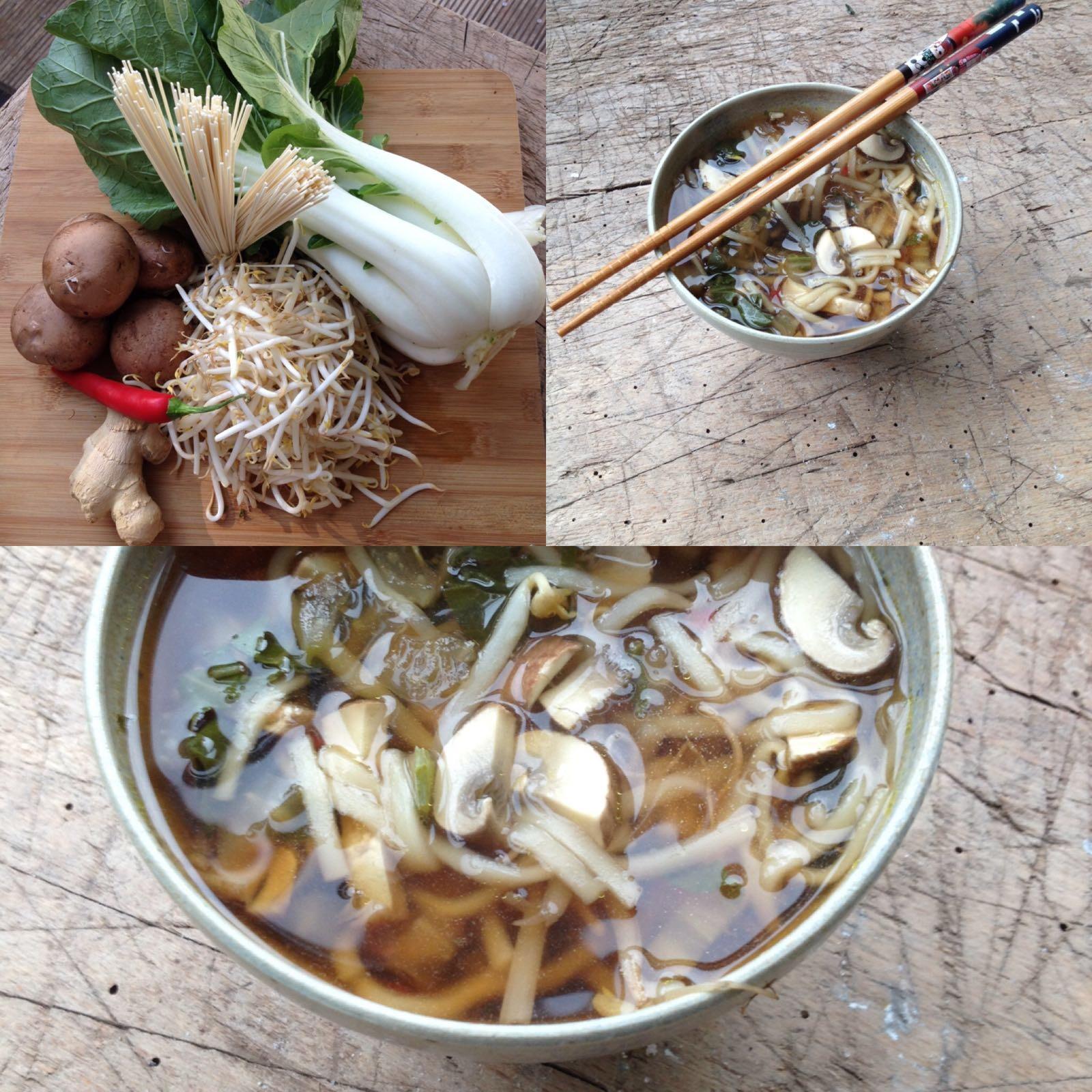 Oosterse soep met noedels